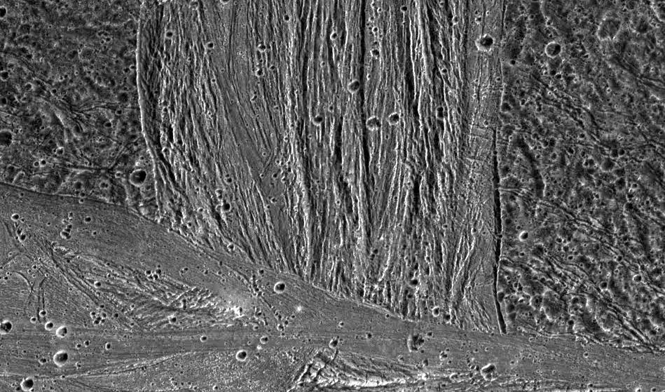 Ganymed Oberfläche